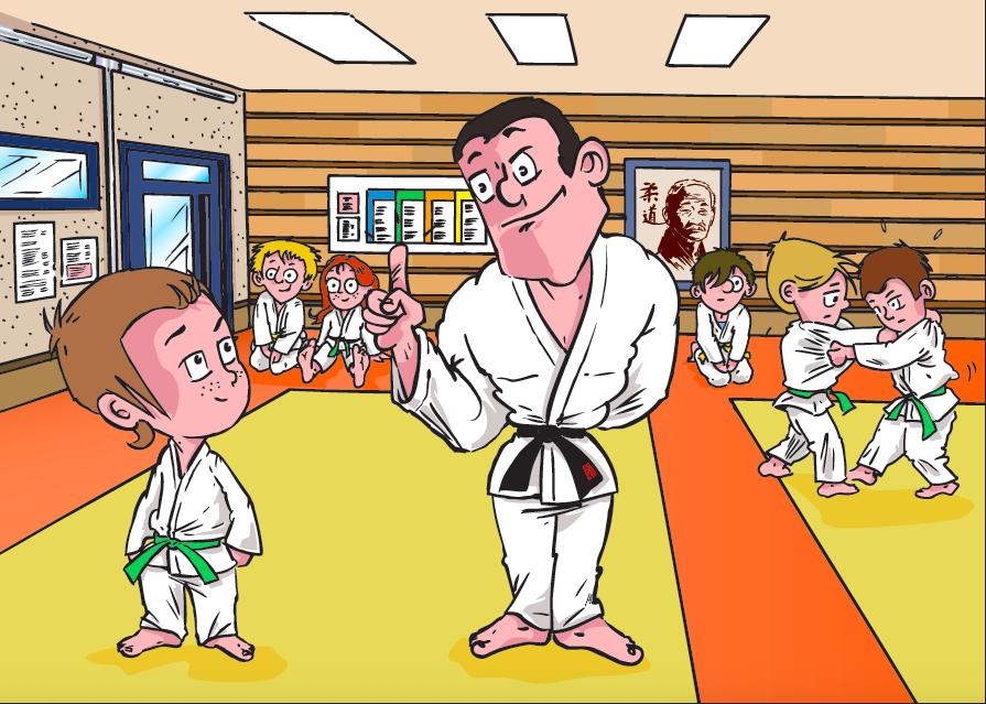 Illustration 1 -Au dojo du Club-