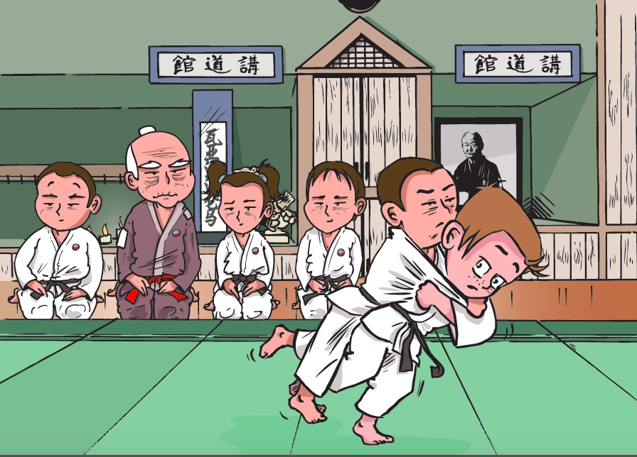 Illustration 4 -Au dojo du maitre-