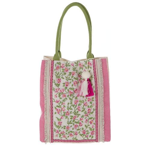 刺繍模様の大きめバッグ