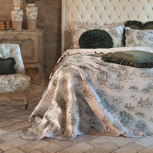 ベッドカバー Toile de Jouy