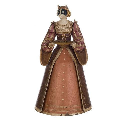 婦人猫・キャンドルホルダー ピンク