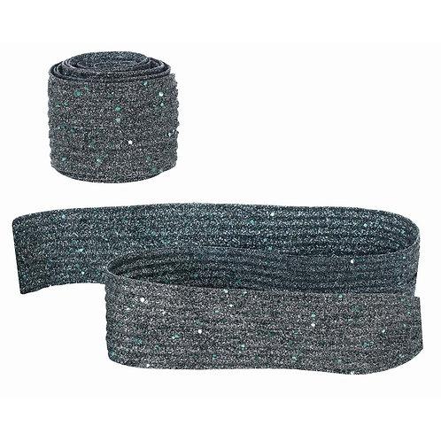 ブルー装飾リボン Velvet