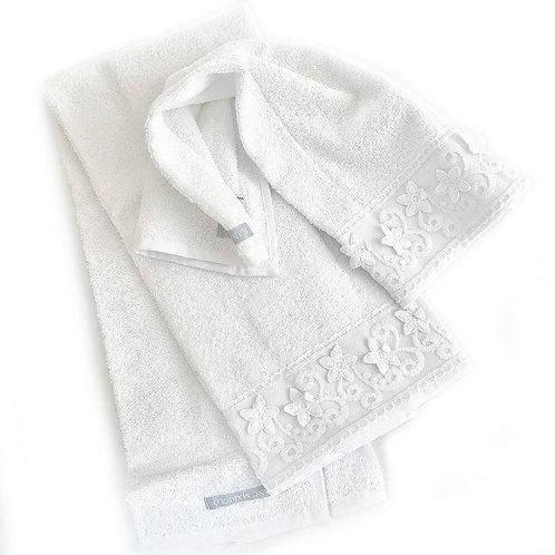 厚手のタオルセット Blooming ホワイト
