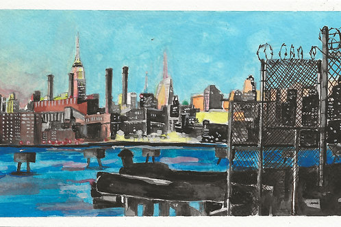 Manhattan Water color 2x4 (10 limited)