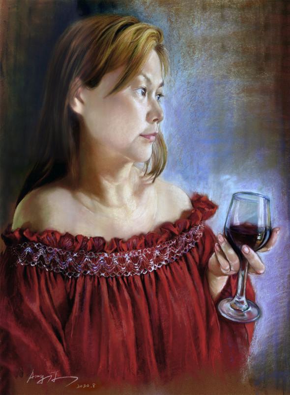 red wine | Pastel
