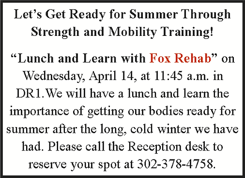 Lunch and Learn with Fox Rehab 4.14.21.p