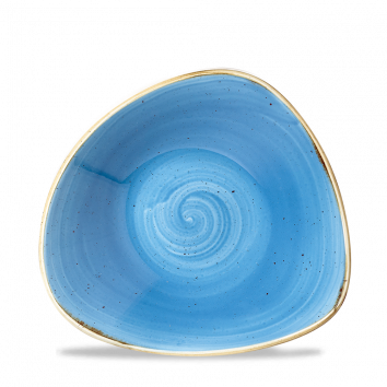 "Stonecast Triangle Bowl 7-1/4"", Cornflower Blue (12/cs)"