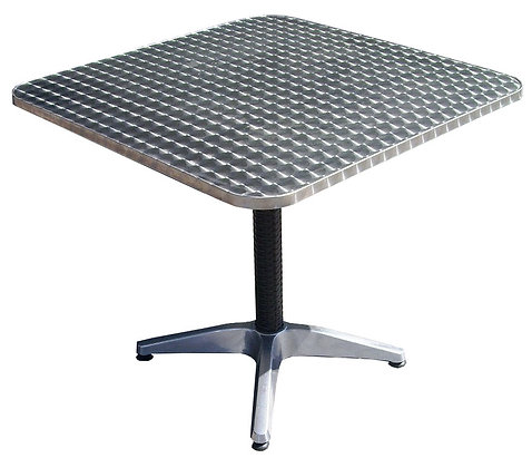 Stainless Steel Dining Table, Square, 28x28