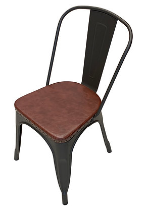 Rustic Side Chair with Padded Seat