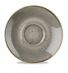 "Stonecast Saucer 6-1/4"", Peppercorn Grey"