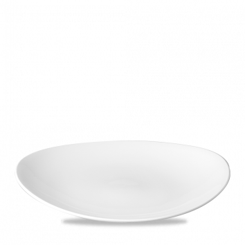 "Orbit Oval Coupe Plate 12.5""x10"" White"