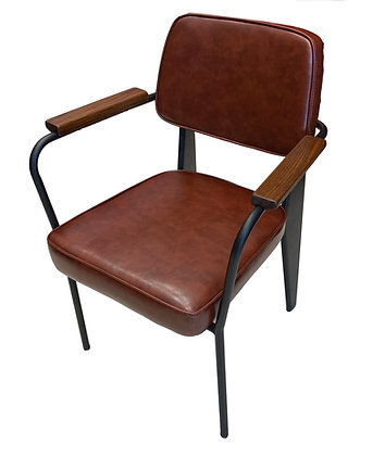 Arm Chair with Padded Seat/Back