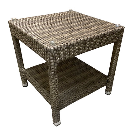 Colola Beach Sectional Side Table w/Glass