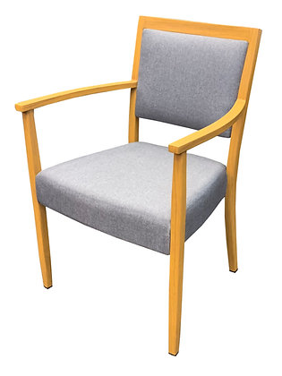 Arm Chair, Padded Seat and Back, Hobart