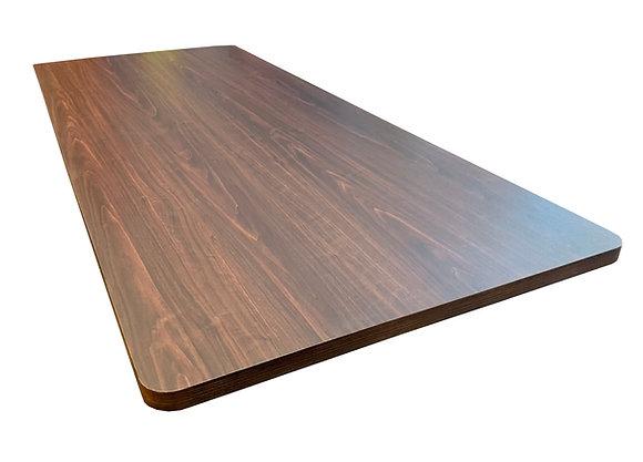"Table Top, Laminate, 72""x30"", Rectangular, Rounded Corners, Walnut"