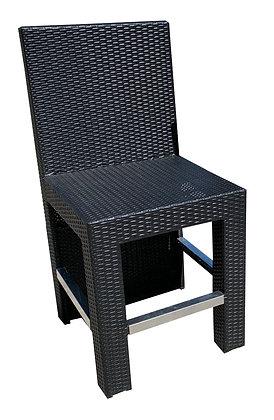King Bar Chairs, Black, Kick Plate