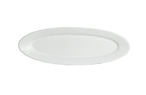 M Wide Oval Platter, White