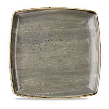 """SPGS DS10 - Stonecast Square Plate 10-1/2"""", Peppercorn"""