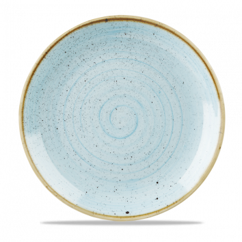 """Stonecast Evolve Coupe Plate 11.25"""", Duck Egg Blue"""