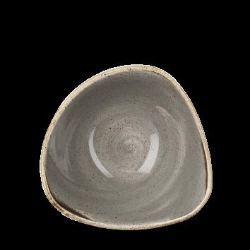 "SPGS TRB6 - Stonecast Triangle Bowl 6"", Peppercorn Grey"