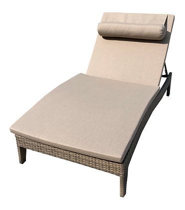 Vallarta Chaise Lounge, with Full Length Cushion, Adjustable Recliner