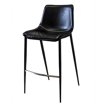 Bar Chair, Padded/Pleated Seat and Back