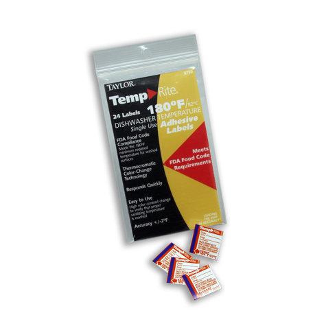 TempRite Single Use Dishwasher 180F Test Labels