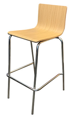 Bar Stool, Bent Wood, Melamine Finish