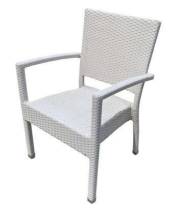 Alexandria Arm Chair, Albino White