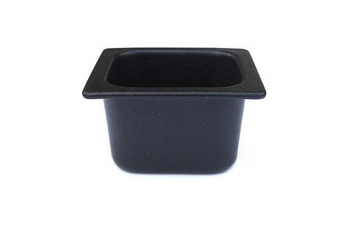 Sixth Size Deep Food Pan, Black