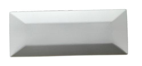 """Plate, Rectangular, 14""""x5-1/2"""", White"""