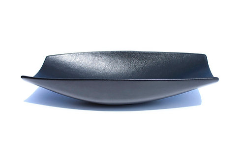 Large Rectangle Fruit Bowl w/lip, Black