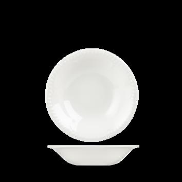 """Buckingham Oatmeal Bowl 7"""" White"""