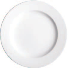 "Wide Rim Plate, Pure White, 6-3/4"", White"