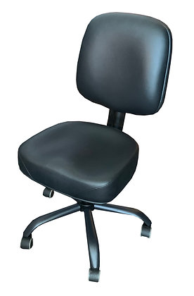 Poker Chair with Adjustable Height, Padded Seat and Back, Castors