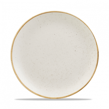 """SWHS EV10 - Stonecast Evolve Coupe Plate 10-1/4"""", Barley White"""