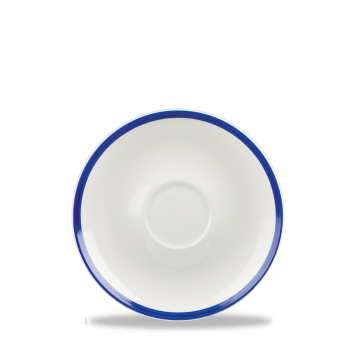 """Retro Blue Saucer 4.75"""""""