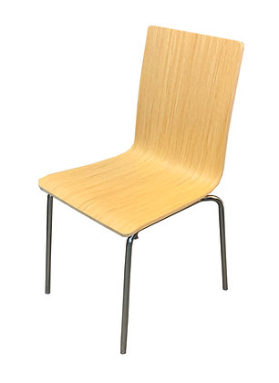 Side Chair, Bent Wood, Melamine Finish