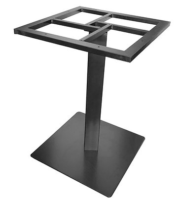 Table Base, Steel, Black, Square