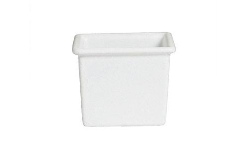Square Salad Bar Bowl 2qt 8 oz White