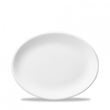 "Oval Plate / Platter 14-1/4"" x 11-1/4"" White"