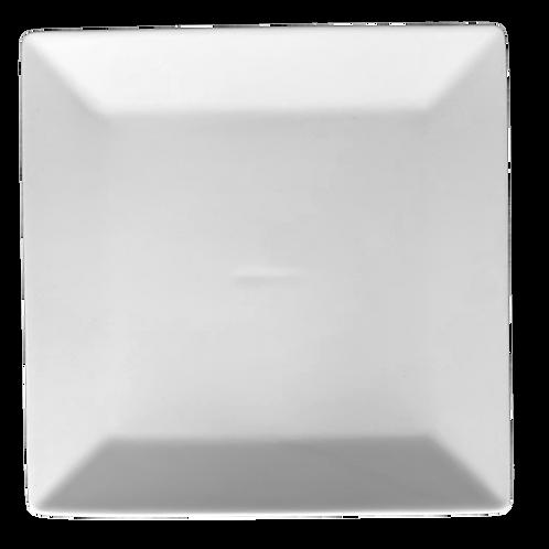 Plate, Square, 7x7, White
