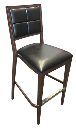 Bar Chair, Padded Seat and Back