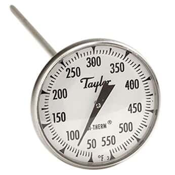 "6220J - 2"" Dial Bi-Therm Thermometer 0/550 F"