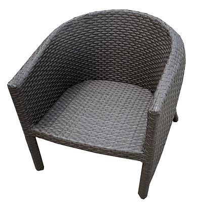 Round Back Arm Chair, Deep, Brown