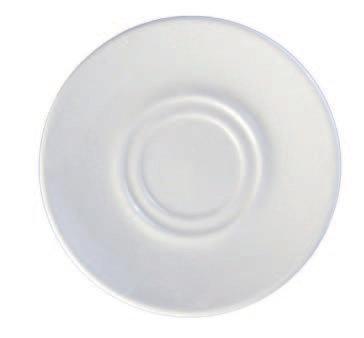 """Saucer, Plain White, 6"""", White"""