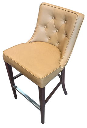 San Cristobal Bar Chair with Brown/Tan Seat