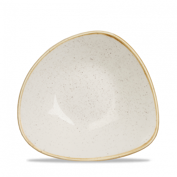 "SWHS TRB7 - Stonecast Triangle Bowl 7-1/4"", Barley White"