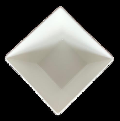 Flared Square Bowl, White, 7.5oz