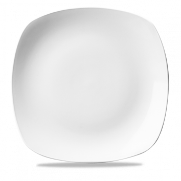 """WH SP9 - X Squared plate 8.5"""" White"""